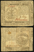 Colonial Notes:Continental Congress Issues, Continental Currency November 2, 1776 Very Fine.. ... (Total: 2notes)