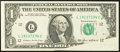 Error Notes:Foldovers, Fr. 1913-L $1 1985 Federal Reserve Note. Choice AboutUncirculated.. ...