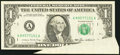 Error Notes:Attached Tabs, Fr. 1913-A $1 1985 Federal Reserve Note. Very Fine-Extremely Fine.....