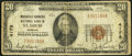 National Bank Notes:Missouri, Saint Louis, MO - $20 1929 Ty. 1 Mercantile Commerce NB Ch. # 4178....