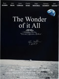 Autographs:Celebrities, Edgar Mitchell Signed The Wonder of It All Color Poster,Also Signed by Director Jeffrey Roth. ...