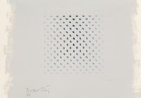 Bridget Riley (b. 1931) Study for Deny, 1966 Gouache on paper 12-1/4 x 17-5/8 inches (31.1 x 44.7