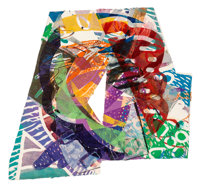 Sam Gilliam (b. 1933) Untitled, 1987 Mixed media on paper with collage 39 x 40 inches (99.1 x 101