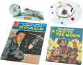 "Explorers:Space Exploration, Pre-Manned Spaceflight Toys and Books Collection (Four Items)including Duro ""Strato"" and Astro ""Plan-It"" Banks. ..."