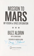 Autographs:Celebrities, Buzz Aldrin Signed Book: Mission To Mars. ...
