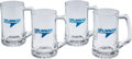 Explorers:Space Exploration, Grumman Apollo-Era Glass Mugs (Four). ... (Total: 4 Items)