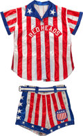 Basketball Collectibles:Uniforms, Circa 1960's All-American Red Heads Game Worn Uniform....