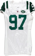 Football Collectibles:Uniforms, 2010 Calvin Pace Game Worn New York Jets Jersey....