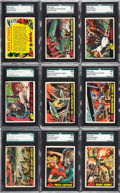 Non-Sport Cards:Sets, 1962 Topps Mars Attacks Near Set (52/55). ...