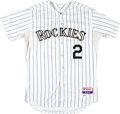 Baseball Collectibles:Uniforms, 2014 Troy Tulowitzki Game Worn Colorado Rockies Uniform. ...