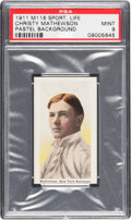 Baseball Cards:Singles (Pre-1930), 1910-11 M116 Sporting Life Christy Mathewson (Pastel Background)PSA Mint 9 - Pop Three, None Higher. ...