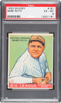 Baseball Cards:Singles (1930-1939), 1933 Goudey Babe Ruth #181 PSA EX-MT 6....