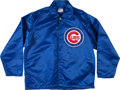 Baseball Collectibles:Others, 1980's Chicago Cubs Game Worn Jacket with Possible Attribution toDennis Eckersley. ...