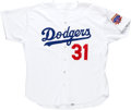 Baseball Collectibles:Uniforms, 1997 Mike Piazza Game Worn Los Angeles Dodgers Jersey. ...