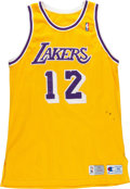 Basketball Collectibles:Uniforms, 1993-94 Vlade Divac Game Worn Los Angeles Lakers Jersey. ...
