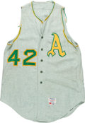 Baseball Collectibles:Uniforms, 1964 Oakland Athletics Game Worn Flannel Jersey. ...
