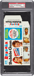 Baseball Cards:Singles (1960-1969), 1968 Bazooka (Complete Box) Roberto Clemente PSA EX 5 - The HighestGraded Box! ...