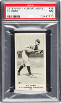 Baseball Cards:Singles (Pre-1930), 1916 M101-4 Sporting News Ty Cobb #38 PSA NM 7. ...