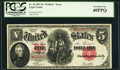"""Large Size:Legal Tender Notes, Fr. 92 $5 1907 """"PCBLIC"""" Error Legal Tender PCGS Extremely Fine 40PPQ.. ..."""