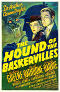 "Movie Posters:Mystery, The Hound of the Baskervilles (20th Century Fox, 1939). One Sheet(27"" X 41"").. ..."