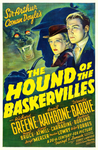 "The Hound of the Baskervilles (20th Century Fox, 1939). One Sheet (27"" X 41"")"
