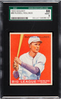 Baseball Cards:Singles (1930-1939), 1933 Goudey Russell Rollings #88 SGC 88 NM/MT 8 - Pop Three, NoneHigher. ...