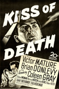 "Movie Posters:Film Noir, Kiss of Death (20th Century Fox, 1947). Full-Bleed One Sheet (26"" X40"").. ..."