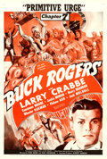"Movie Posters:Serial, Buck Rogers (Universal, 1939). One Sheet (27"" X 41"") Chapter 7 --""Primitive Urge."". ..."
