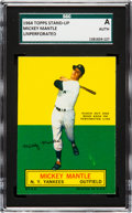 Baseball Cards:Singles (1960-1969), 1964 Topps Stand-Up Mickey Mantle (Unperforated) SGC Authentic. ...