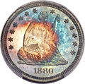 Proof Seated Quarters, 1880 25C PR68 Cameo PCGS. Briggs-2B....