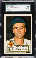 Baseball Cards:Singles (1950-1959), 1952 Topps Fred Hatfield #354 SGC 88 NM/MT 8 - Only One Higher. ...