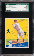 Baseball Cards:Singles (1930-1939), 1934 Goudey Ed Coleman #28 SGC 92 NM/MT+ 8.5 - Pop Two, NoneHigher. ...