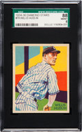 Baseball Cards:Singles (1930-1939), 1934-36 Diamond Stars Willis Hudlin #79 SGC 88 NM/MT 8 - Pop Four,None Higher. ...