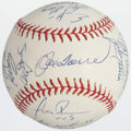 Baseball Collectibles:Balls, 2003 New York Yankees Team Signed Baseball PSA Mint 9 (25 Signatures)....