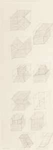 Post-War & Contemporary:Minimalismk, Sol LeWitt (1928-2007). Working Drawing, 1981. Pencil on CMFabriano paper. 19 x 6-7/8 inches (48.3 x 17.5 cm) (sheet). ...