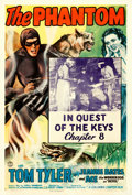 "Movie Posters:Serial, The Phantom (Columbia, 1943). One Sheet (27"" X 41""). Chapter 8 --""In Quest of the Keys."". ..."