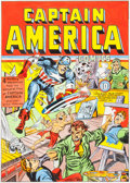 Original Comic Art:Covers, Joe Simon Captain America Comics #9 Cover RecreationOriginal Art (undated)....