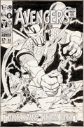 Original Comic Art:Covers, John Buscema and Vince Colletta Avengers #45 Cover OriginalArt (Marvel, 1967)....