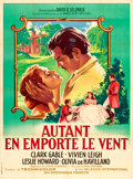"Movie Posters:Academy Award Winners, Gone with the Wind (Selznick, R-1954). French Grande (47"" X 63"")Roger Soubie Artwork.. ..."