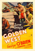 "Movie Posters:Western, The Golden West (Fox, 1932). One Sheet (28.5"" X 41"") Scene Style....."