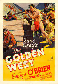 "The Golden West (Fox, 1932). One Sheet (28.5"" X 41"") Scene Style"