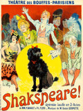 """Movie Posters:Musical, Shakespeare! (c.1899). French Operetta Affiche (23.5"""" X 31.5"""").. ..."""