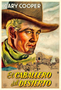 "Movie Posters:Western, The Westerner (Guaranteed Pictures, 1943). Argentinean Poster (29""X 43"") Osvaldo Venturi Artwork.. ..."
