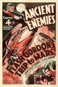 "Movie Posters:Serial, Flash Gordon's Trip to Mars (Universal, 1938). One Sheet (27"" X41""). Chapter 4 -- ""Ancient Enemies."". ..."