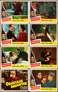 "Movie Posters:Horror, Dracula's Daughter (Realart, R-1949). Lobby Card Set of 8 (11"" X14"").. ... (Total: 8 Items)"