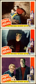 "Movie Posters:Horror, House of Dracula (Realart, R-1950). Lobby Cards (3) (11"" X 14"")..... (Total: 3 Items)"