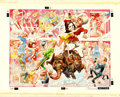 Movie Posters:Comedy, The Party by Jack Davis (United Artists, 1968). Signed Original Watercolor and Gouache Painting Poster Art on Watercolor Boa...