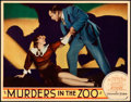 "Movie Posters:Horror, Murders in the Zoo (Paramount, 1933). Lobby Card (11"" X 14"").. ..."