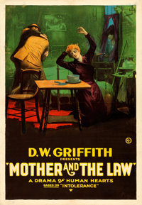 "Intolerance (D.W. Griffith, 1919). AKA ""Mother and the Law."" One Sheet (27"" X 41"")"