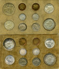 Mint Sets, Uncertified 1957 Double Mint Set. 20 coins total, 2 each of the five denominations from the Philadelphia and Denver Mints. H...